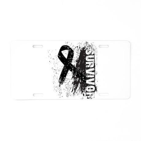 Survivor Melanoma Aluminum License Plate