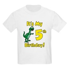 Dinosaur 5th Birthday T-Shirt