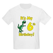 6th Dinosaur Birthday T-Shirt