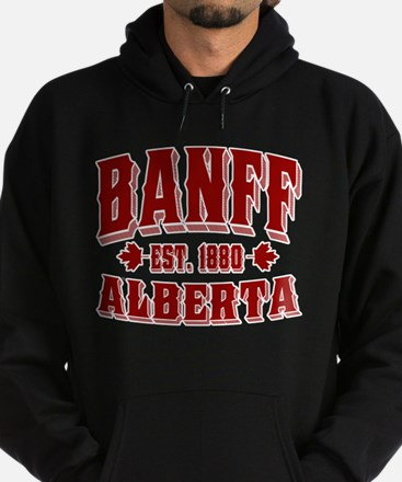 Banff Old Style Canada Red Hoodie (dark)