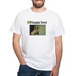 UNhappy Hour White T-Shirt