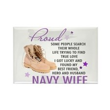 Unique Us navy proud mom Rectangle Magnet