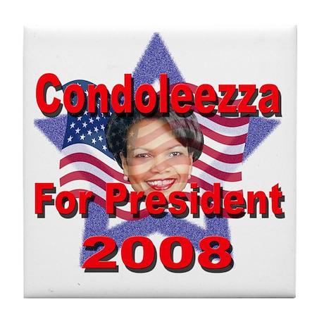 Condoleezza Rice 2008 Tile Coaster