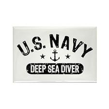 U.S. Navy Deep Sea Diver Rectangle Magnet