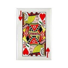 Jack Of Hearts Rectangle Magnet