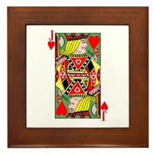 Jack Of Hearts Framed Tile