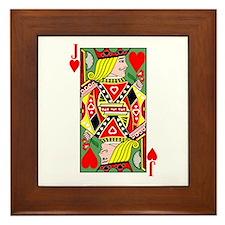 Jack Of Hearts Framed Tile