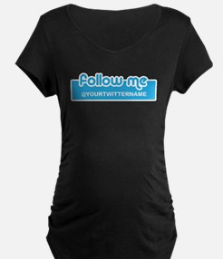 Personalizable Twitter Follow Me T-Shirt