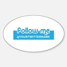 Personalizable Twitter Follow Decal