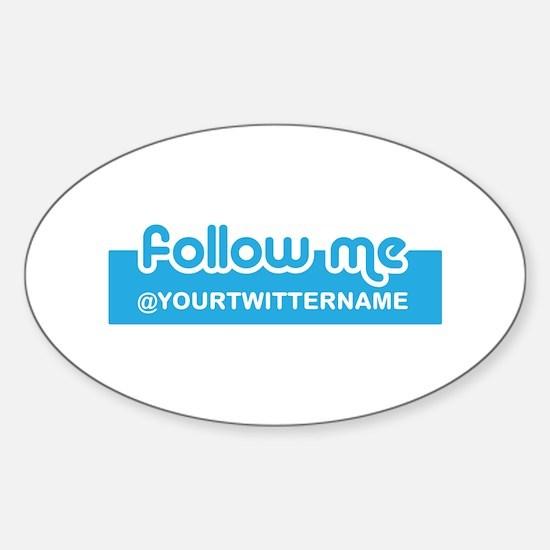 Personalizable Twitter Follow Sticker (Oval)