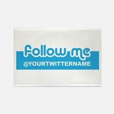 Personalizable Twitter Follow Rectangle Magnet (10
