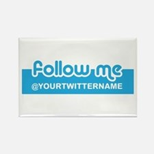 Personalizable Twitter Follow Rectangle Magnet