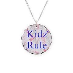 Kidz rule Necklace Circle Charm