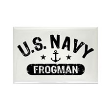 U.S. Navy Frogman Rectangle Magnet