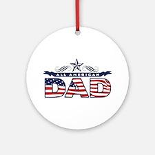 Happy Father's Day Round Ornament