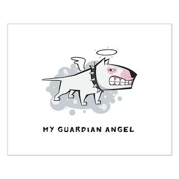 Angel Bull Terrier Small Poster