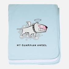 Angel Bull Terrier baby blanket