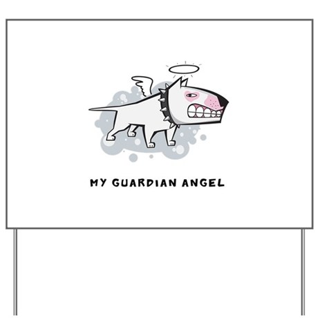 Angel Bull Terrier Yard Sign