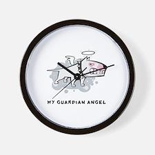 Angel Bull Terrier Wall Clock