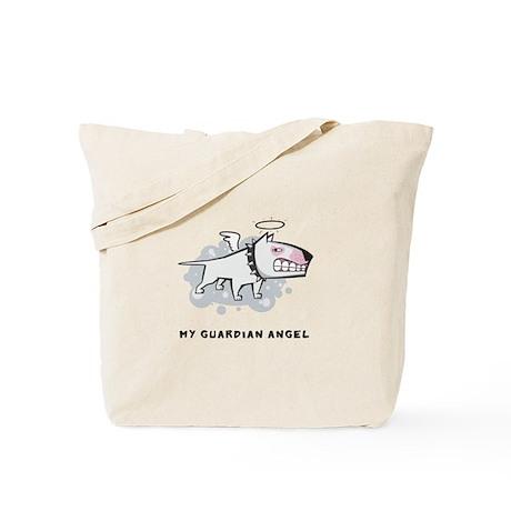 Angel Bull Terrier Tote Bag