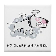 Angel Bull Terrier Tile Coaster