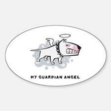 Angel Bull Terrier Decal