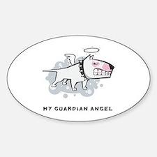 Angel Bull Terrier Sticker (Oval)