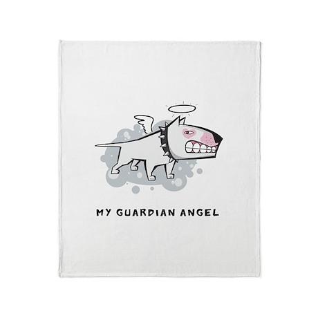 Angel Bull Terrier Throw Blanket