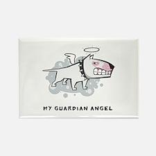 Angel Bull Terrier Rectangle Magnet (100 pack)