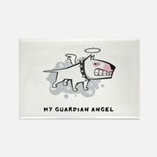 Angel Bull Terrier Rectangle Magnet
