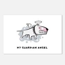 Angel Bull Terrier Postcards (Package of 8)