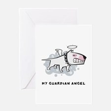 Angel Bull Terrier Greeting Card