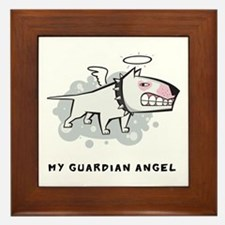 Angel Bull Terrier Framed Tile