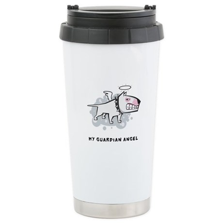 Angel Bull Terrier Stainless Steel Travel Mug