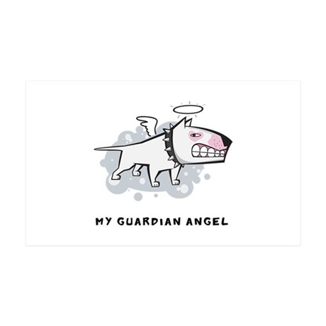 Angel Bull Terrier 38.5 x 24.5 Wall Peel