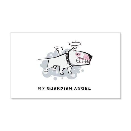 Angel Bull Terrier 22x14 Wall Peel