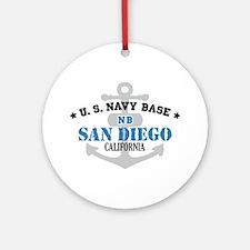 US Navy San Diego Base Ornament (Round)