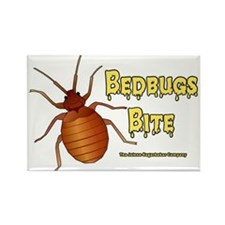 Bed Bugs Bite Rectangle Magnet