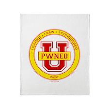Pwned U (gold) Throw Blanket