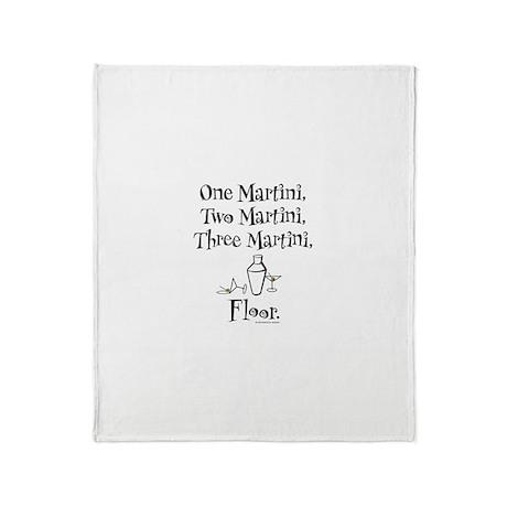 One Martini, Two Martini Throw Blanket