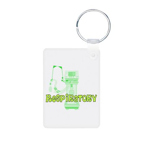 Respiratory Therapy Aluminum Photo Keychain