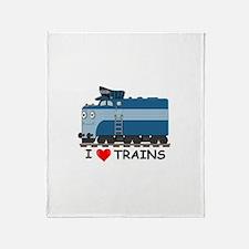 HATWHEEL TRAIN Throw Blanket