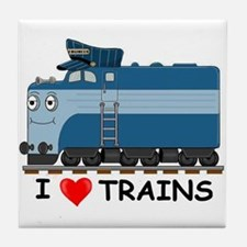 HATWHEEL TRAIN Tile Coaster