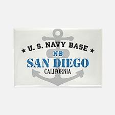 US Navy San Diego Base Rectangle Magnet