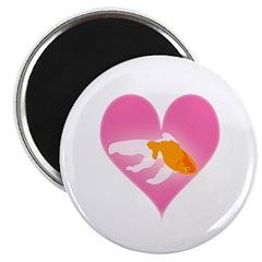 """Goldfish Love 2.25"""" Magnet (10 pack)"""