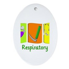 Respiratory Therapy Ornament (Oval)