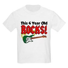 This Four Year Old Rocks T-Shirt