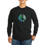Peace Earth Long Sleeve Dark T-Shirt
