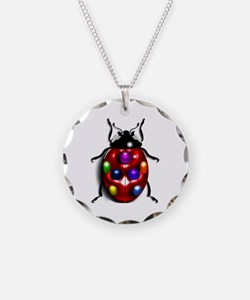 Ladybug Colorful Gem Dots Necklace