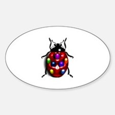 Ladybug Colorful Gem Dots Decal
